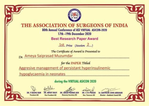 10.2020-Dr. Ameya M- 1st Prize Paper