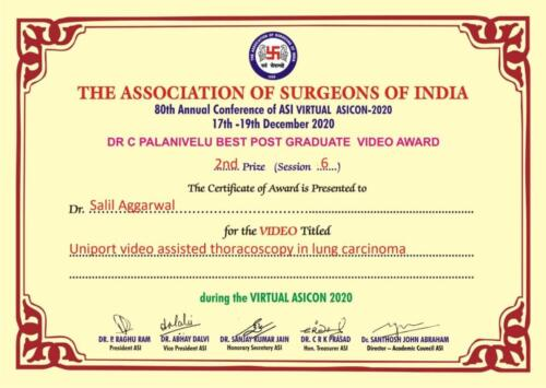 12.2020-Dr. Salil Aggarwal 2nd Prize Poster