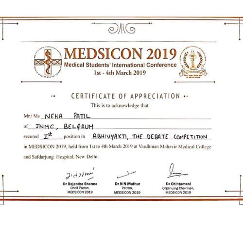 63-2019-Neha patil 1st award