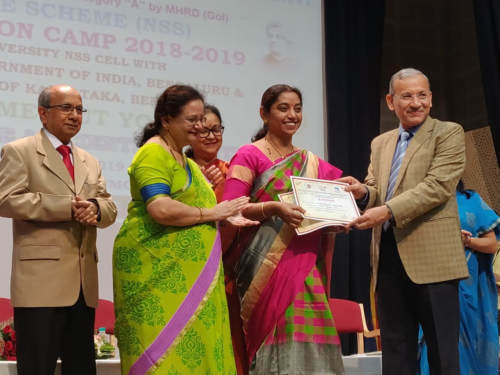 NSS National Integration Camp 28.02.2019 to 05.03.2019 JNMC NSS Unit was awarded as Best Unit.