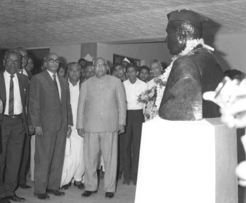 Sri. S.Nijalingappa, AICC President, New Delhi, jnmc opening day 1969