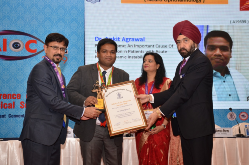 Best paper in All India ophthalmology Conference 2018-2019 Indore.