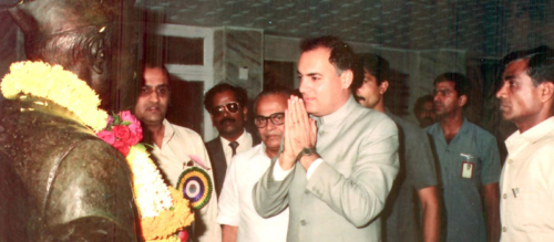 Hon Prime Minister Shri Rajiv Gandhi, 1988